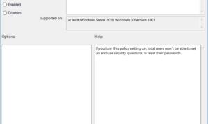 Cómo activar o desactivar las preguntas de seguridad en Windows 10 mediante el Registro o la directiva de grupo