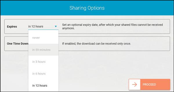 Whisply le permite transferir archivos a través del servicio Cloud Storage utilizando Encryption 3
