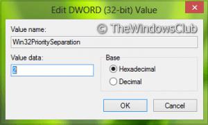 Optimice Windows para obtener el mejor rendimiento para programas o servicios en segundo plano