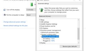La CPU no funciona a toda velocidad en Windows 10