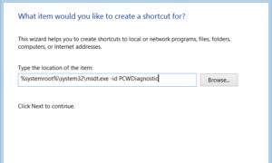 Crear un acceso directo al escritorio del Solucionador de problemas de compatibilidad de programas