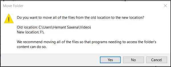 Cambiar la ubicación predeterminada de la carpeta Capturas para el DVR de juegos en Windows 10
