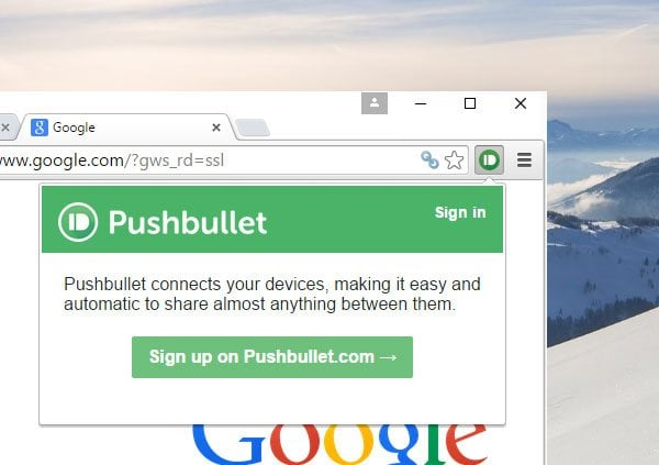 Pushbullet: Aplicación gratuita para transferir datos de Windows PC a teléfono, tableta, etc. 2