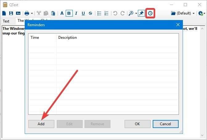 QText es una aplicación de toma de notas alternativa al Bloc de Notas para PC con Windows