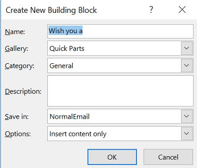 Cómo usar Quick Parts para pegar texto de Microsoft Word a Outlook