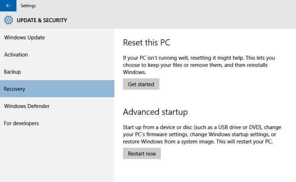 Cómo restaurar, actualizar y restablecer dispositivos Surface Pro 3