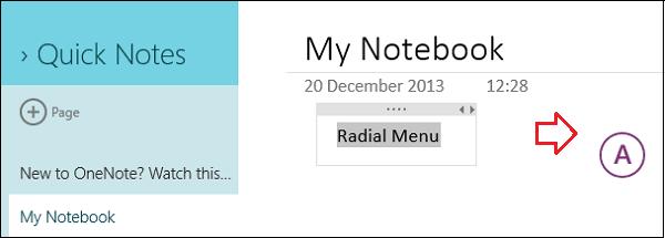 OneNote Windows Store App, obtiene Menú Radial, OCR, Escaneo de Cámara y más 2