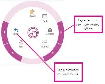 OneNote Windows Store App, obtiene Menú Radial, OCR, Escaneo de Cámara y más 4
