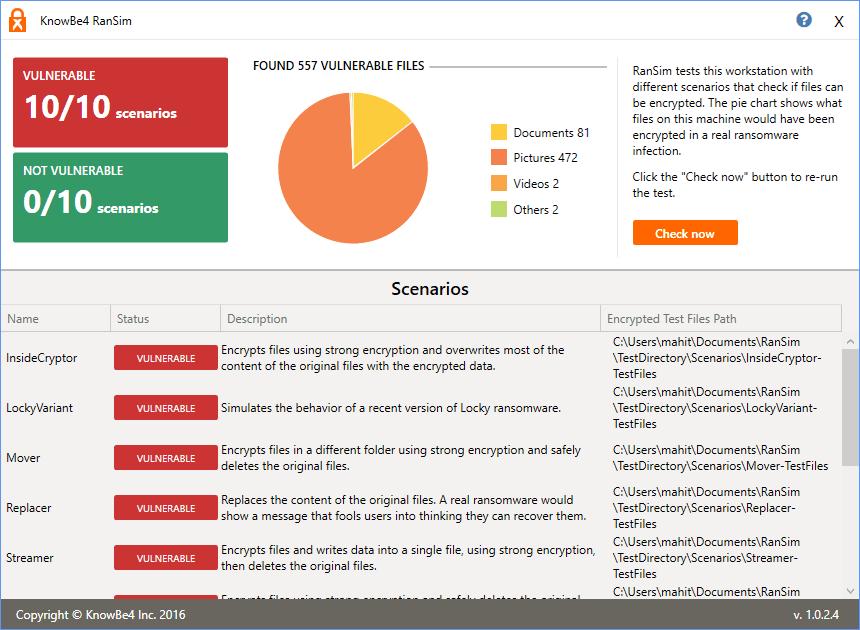 El Simulador RanSim Ransomware te dirá si tu ordenador está protegido.