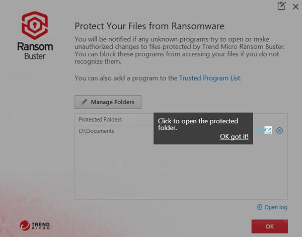 Trend Micro RansomBuster detendrá a Ransomware protegiendo las carpetas confidenciales