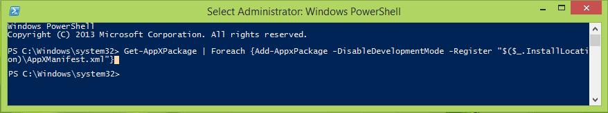 Esta aplicación no puede abrirse: Reinstalar o volver a registrar aplicaciones de Windows Store en Windows 10/8
