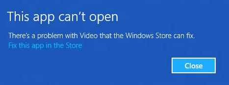 Esta aplicación no puede abrirse: Reinstalar o volver a registrar aplicaciones de Windows Store en Windows 10/8 1