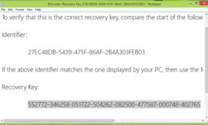 Cómo realizar una copia de seguridad de la clave de recuperación de cifrado de unidad BitLocker en Windows 10/8.1