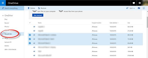 Cómo recuperar archivos borrados de OneDrive en Windows 10