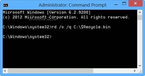 La papelera de reciclaje está dañada en Windows 10/8/7