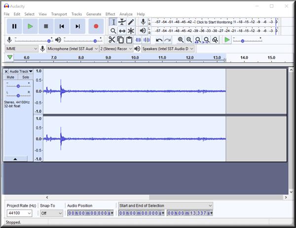 Reduzca o elimine el ruido de fondo con Audacity para PC con Windows