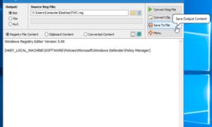 Reg Converter le permite convertir archivos.reg a archivos.bat,.vbs,.au3