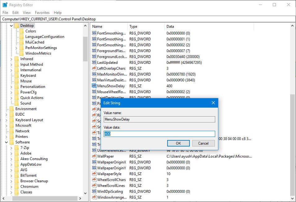Cómo acelerar las animaciones de Windows 10 1