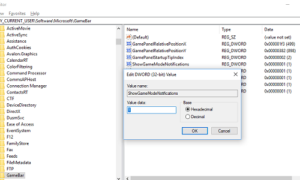 Cómo desactivar las notificaciones del modo de juego en Windows 10