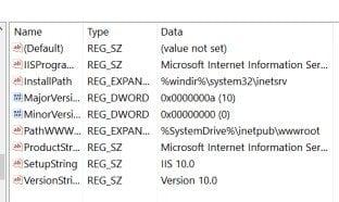 Cómo comprobar la versión instalada de IIS en Windows 10/8/7 1