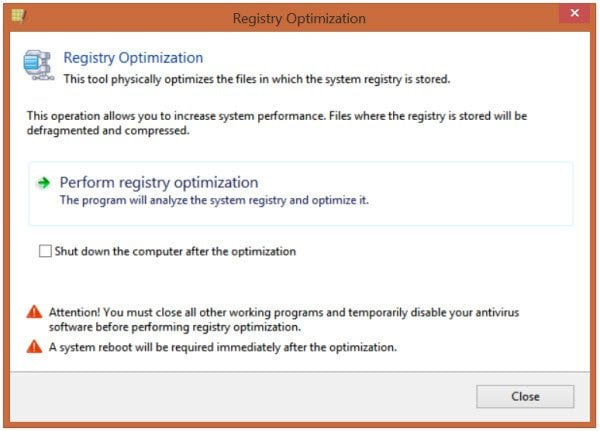 Registry Life es una herramienta gratuita de limpieza y optimización del registro para Windows.