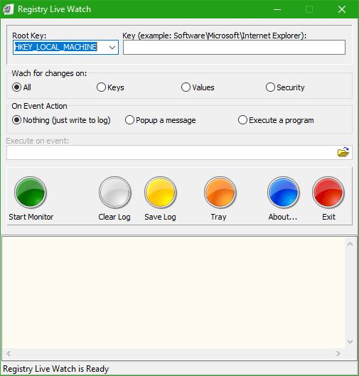 Registry Live Watch realizará un seguimiento de los cambios en el Registro de Windows Live