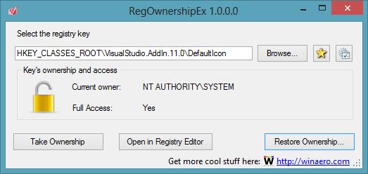 RegOwnershipEx: Asuma fácilmente la propiedad de las claves del registro