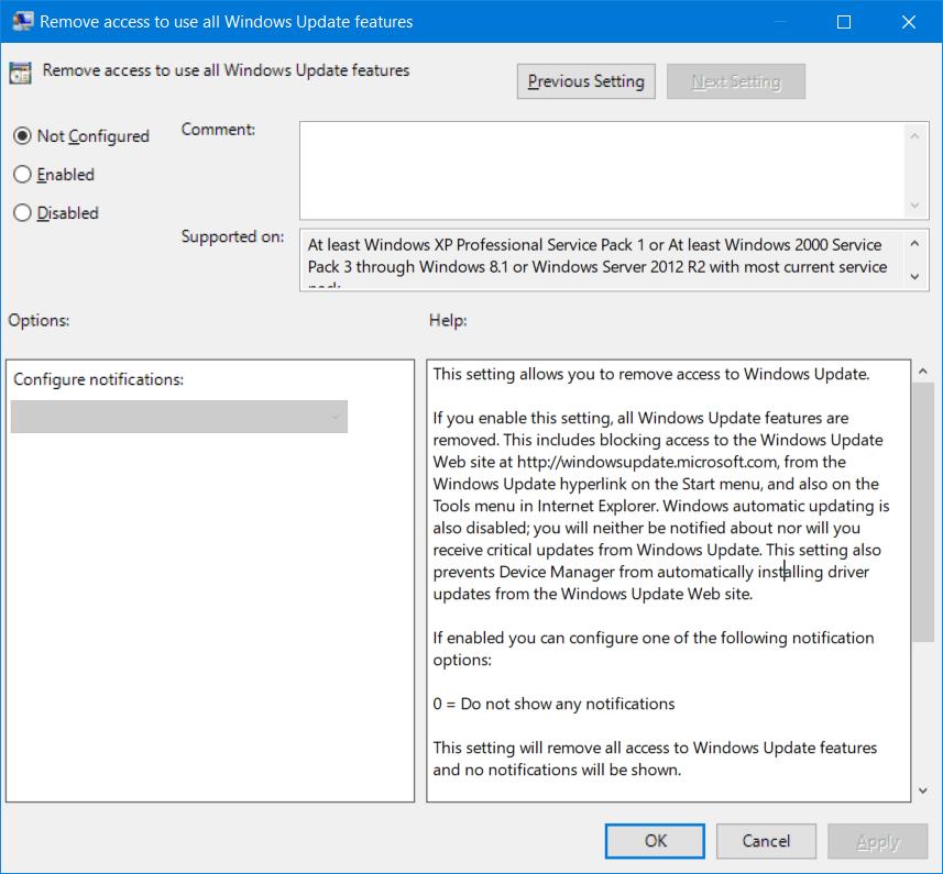 Corregir error 0x80240438 para Windows Updates y Microsoft Store