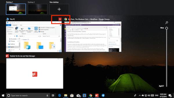 Cómo usar la característica Timeline en Windows 10 4
