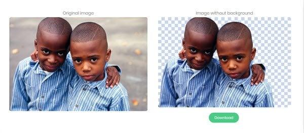 Eliminar.bg le permite eliminar el fondo de las imágenes y fotos en línea gratis 2