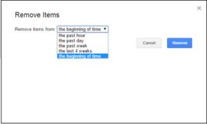 Eliminación del historial de búsqueda de Google a través de la página de actividad de Google Web and App
