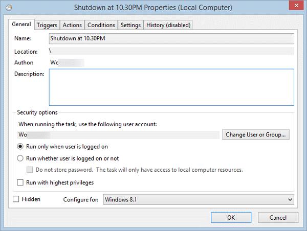 Cómo cambiar el nombre de una tarea programada en el Programador de tareas de Windows 1