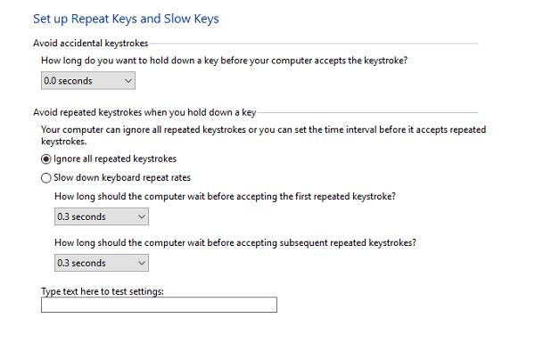 Cómo activar o desactivar las teclas de filtro en Windows 10