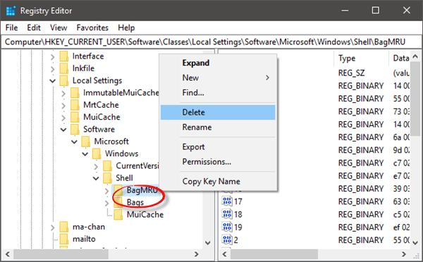 Cómo restablecer la vista de carpetas en Windows 10