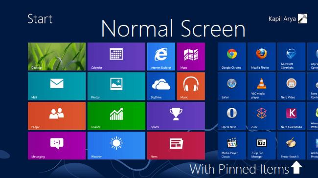 Restablecer la pantalla de inicio a su valor predeterminado en Windows 8 1