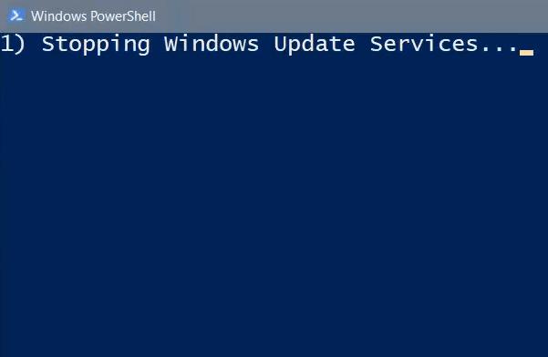 Restablecer el cliente de Windows Update con PowerShell Script 2