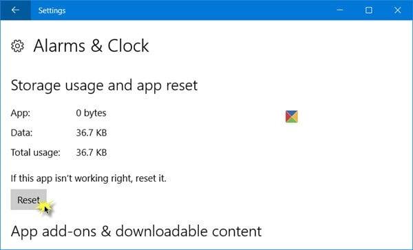 Cómo restablecer las aplicaciones del Almacén de Windows en Windows 10 a través de Configuración 2
