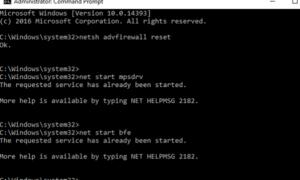 No se ha podido cargar el Firewall de Windows con seguridad avanzada, Error 0x6D9