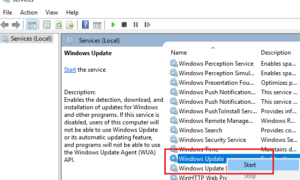 Corrección del error de Windows Update 0x8024A10A en Windows 10/8/7