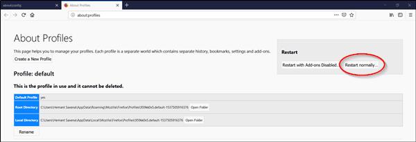 Cómo reiniciar el navegador Firefox o Chrome sin perder pestañas en Windows 10