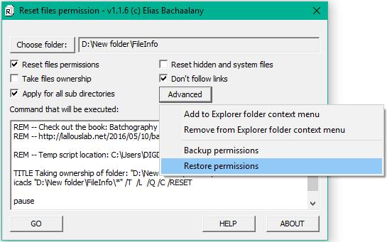 Cómo restablecer los permisos de archivos NTFS en Windows 10/8/7 4