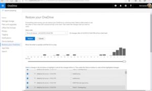 Utilice OneDrive Files Restore para recuperar los archivos bloqueados de Ransomware