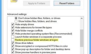 Restaurar las ventanas de la carpeta anterior en el inicio de sesión en Windows 10/8/7