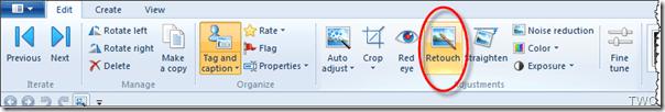 Cómo retocar fotos con la Galería fotográfica de Windows 1