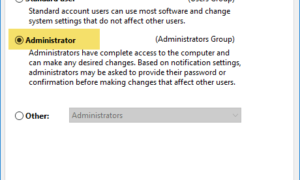 Ejecutar como administrador que no funciona en Windows 10
