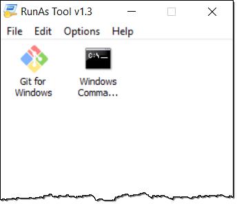 RunAsTool le permite ejecutar un programa como Administrador sin contraseña 2