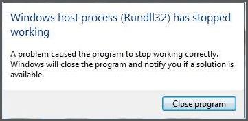 Corregir error Rundll32.exe - El proceso Rundll32 de Windows Host ha dejado de funcionar 1