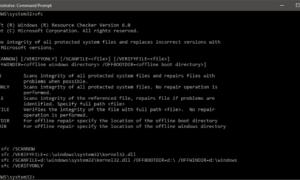 Cómo ejecutar sfc /scannow System File Checker en unidades externas