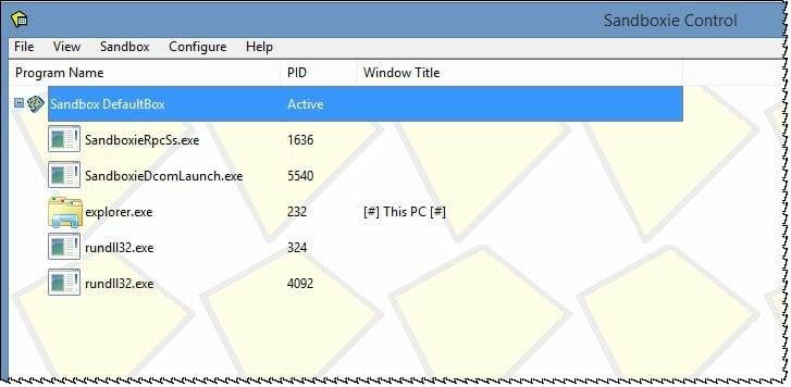SandBoxie: Ejecutar programas en un entorno seguro en Windows