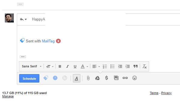 MailTag para Gmail ofrece seguimiento del correo electrónico, programación y seguimiento automático 4